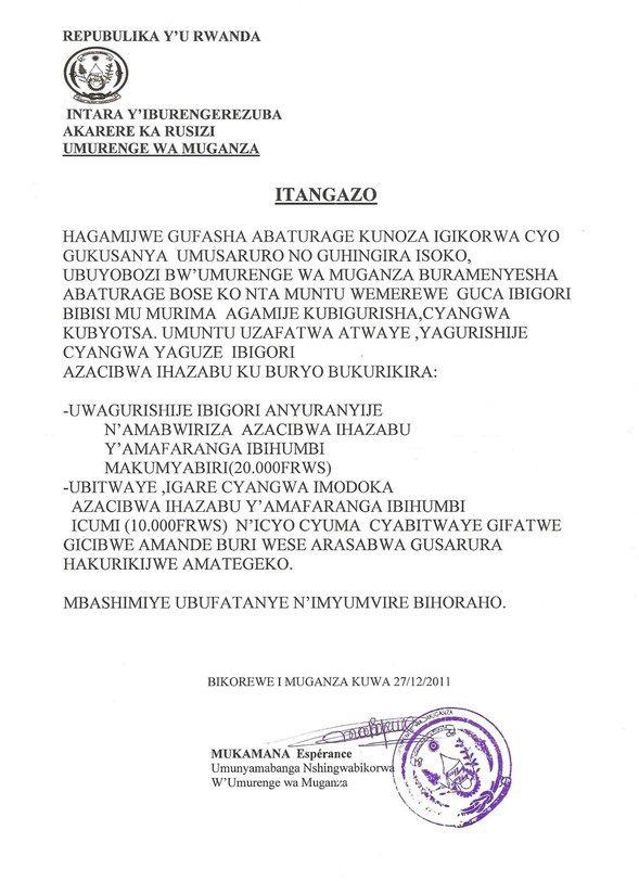 Kurya ikigori cyokeje bisigaye ari ukwigerezaho mu duce tumwe tw'u Rwanda 393937_185203328244481_100002644448047_310816_965042193_n